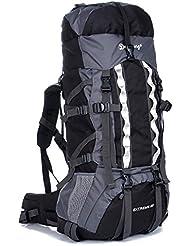 80L Outdoor Wanderrucksack Wasserdichter Trekking Rucksack Professioneller Outdoor Bergsteigen Rucksack mit Regenhülle, 90 x 35 x 25 cm