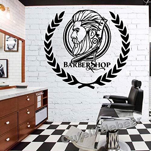 BARBE'S SHOP Dekoration Vinyltapetenrolle Möbel Dekorativ Für Barber Shop Dekoration Aufkleber Wandbild 43 cm X 46 cm