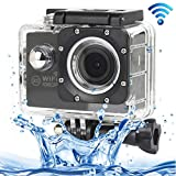 ALLSHOPSTOCK (#33) H16 1080P Portable WiFi Waterproof Sport Camera, 2.0 inch Screen, Generalplus 4248, 170 A+ Degrees Wide Angle Lens, Support TF Card(Black)