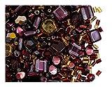 ScaraBeads 35 g Mix Perline di Vetro, Oro Borgogna, Vetro Ceco