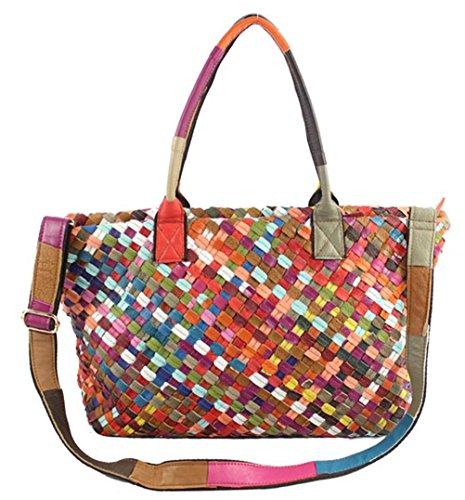 Caige, Borsa a mano donna Multicolore Multicolore Multicolore