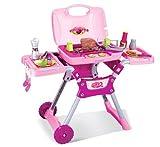 Spielzeug-Grill-Set für Kinder mit Geräuschen und Licht - BBQ-Zubehör - Rosa