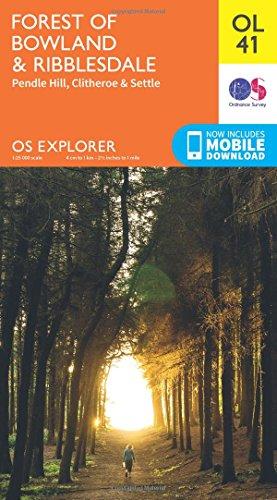OS Explorer OL41 Forest of Bowland & Ribblesdale (OS Explorer Map)