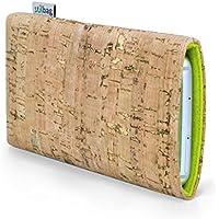 Stilbag maßgeschneiderte Korkhülle VIGO | Farbe: natur-gold-apfelgrün | Smartphone-Tasche aus Kork | Handy Schutzhülle | Handytasche Made in Germany