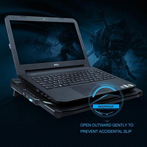 TeckNet Refroidisseurs pour ordinateur portable et de Notebook, équipé de 2  ports USB, adapté pour 12-17 pouces, avec ventilateur silencieux de 3x12cm,  ... 731ee2ccb986