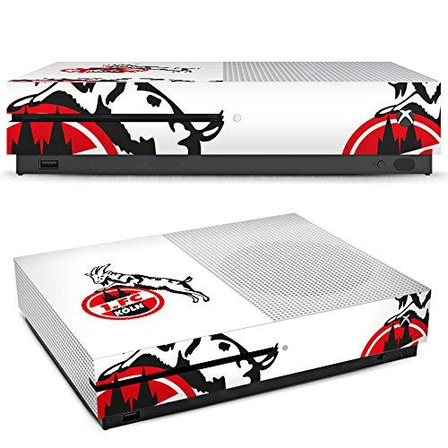 DeinDesign Microsoft Xbox One S Folie Skin Sticker aus Vinyl-Folie Aufkleber 1. FC Köln Fanartikel Fussball