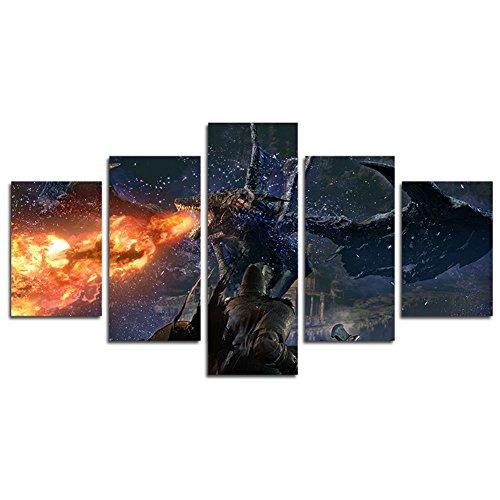 YspgArt66 Stampa Pittura su Tela, 5 Pezzi World of Warcraft Art Shadowmoon...