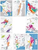 Wein Folly Frankreich Regional Karte Poster Print Set 8-pc