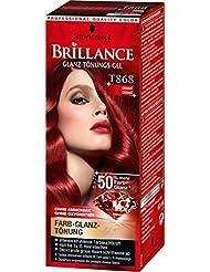 Brillance Glanz-Tönungs-Gel T868 Granat, 3er Pack (3 x 60 ml)