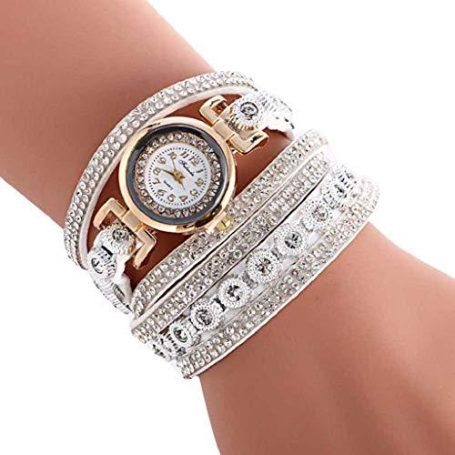 VJGOAL Damen Uhren, Frauen Mädchen Armbanduhr Elegant Atmosphäre Mode Trend Strass Süß Watch Kleiner Kopf Geburtstagsgeschenk (Unsere Stadt Kostüm Designs)