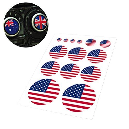 BESTOYARD Amerikanische Flagge Aufkleber patriotischen Aufkleber USA Aufkleber für Vinyl Auto Aufkleber Aufkleber (runde Form)