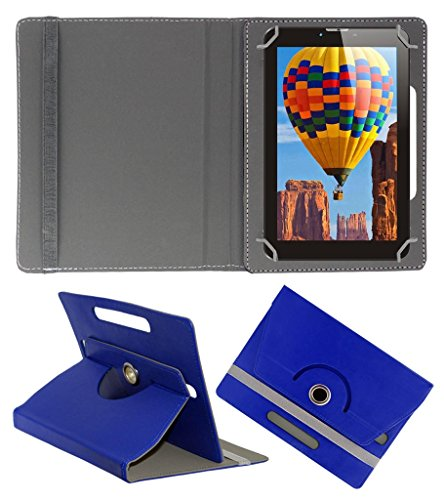 Acm Rotating 360° Leather Flip Case For Tescom Bolt 3g Tablet Cover Stand Dark Blue  available at amazon for Rs.149