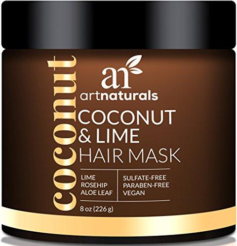 ArtNaturals Kokos-Limone Haarkur - 226 g - Intensiv-Kur und Feuchtigkeitsspender für alle Haartypen - mit Kokosnuss, Limone, Aloe Vera und Hagebuttenextrakt - Sulfatfrei, ohne Parabene und Vegan