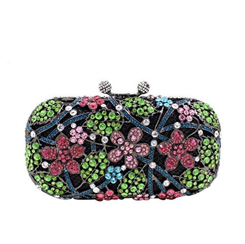 Frauen-Luxus-Diamant-Abendtasche Diamant-Griff Tasche B