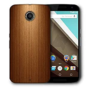 Snoogg Wood Wall Designer Protective Phone Back Case Cover For Motorola Nexus 6