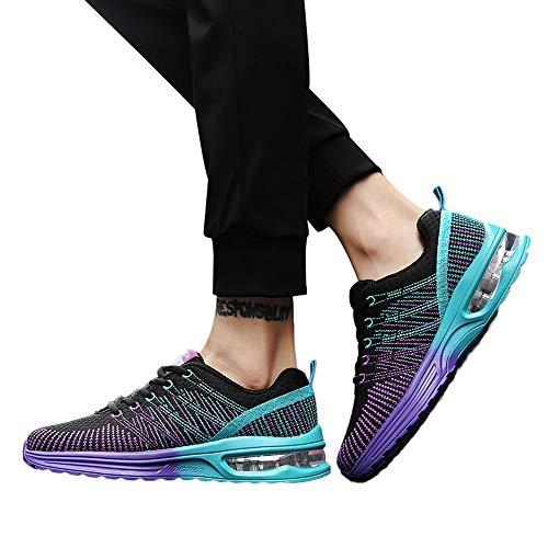 Dorical Herren Leichte Laufschuhe Outdoor Jogging Sneaker Sportschuhe Unisex, Tennisschuhe Sneaker Für Männer Frau Turnschuhe Freizeitschuhe, Neon Turnschuhe Sneaker Sportschuhe(Lila,39 EU)