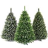 AmeliaHome 07775 180 cm Künstlicher Weihnachtsbaum PVC Tannenbaum Christbaum Kiefer Debbie Weihnachtsdeko