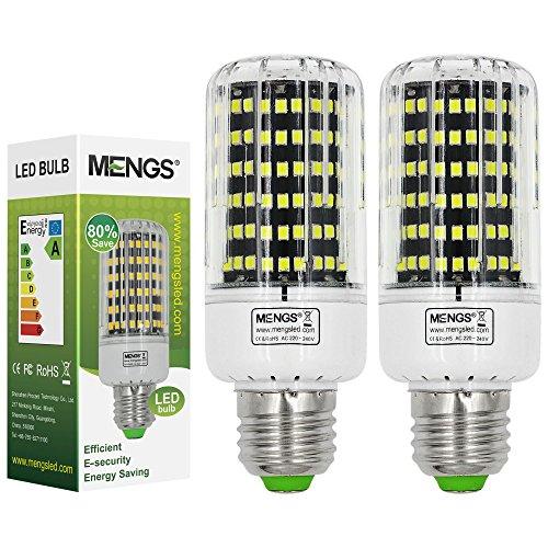 2X MENGS® E27 LED Lampe 8W 10W 13W 15W AC 220-240V Kaltweiß 6500K 2835 SMD Mit PC und Aluminium Platte