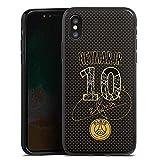 DeinDesign Coque en Silicone Compatible avec Apple iPhone X Étui Silicone Coque Souple Paris Saint-Germain Neymar Produit sous Licence Officielle PSG