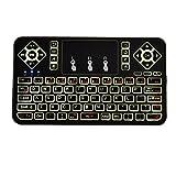 Clavier sans Fil avec Pavé Tactile et Multi-touches Pour Smart TV, mini PC, TV Box, Ordinateur,Projecteur avec LED (Rétro-éclairage blanc)
