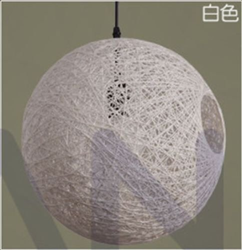 15Cm Modern Industrial DIY Hemp Round Ball Ceiling Lamp Light Pendant Edison Bulb Oa