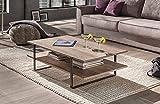 lifestyle4living Couchtisch in Eiche Canyon Dekor | Tisch mit praktischer Ablagefläche | Sofatisch ist 110 cm breit