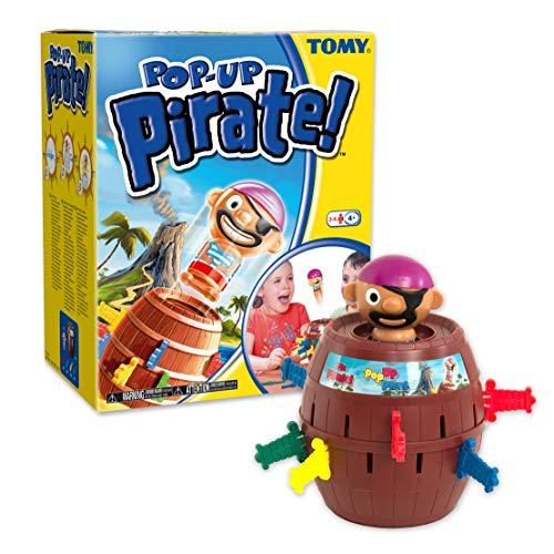 """Tomy Kinderspiel """"Pop Up Pirate"""" – hochwertiges Aktionsspiel für die ganze Familie – Piratenspiel verfeinert die Geschicklichkeit Ihres Kindes – ab 4 Jahre - 6"""