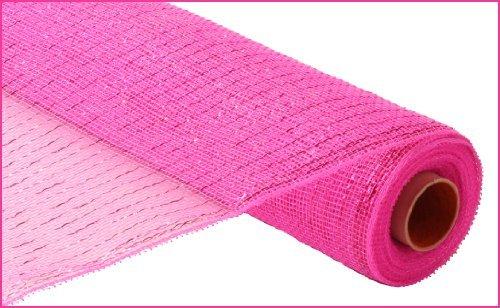 Metallic Poly Deco Mesh - Hot Pink/Hot Pink Metallic Foil by Seefred Metallic-poly-mesh