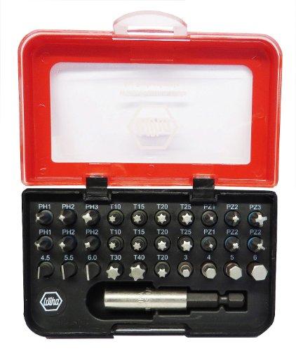 Preisvergleich Produktbild Wiha 31-tlg. BitBox mit Bits in Schlitz, PH, PZ, Sechskant und Torx mit Farbringen - 79791-07