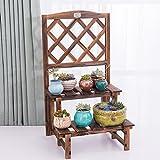 Jinxin-hua Stand Blumentreppe aus Holz Massivholz Blumenregal Grid Balkon Gartenpflanze Regal Holzboden Regal Indoor-Multilayer