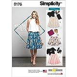Simplicity Schnittmuster 8176Schnittmuster Dirndl Röcke in drei Längen, weiß