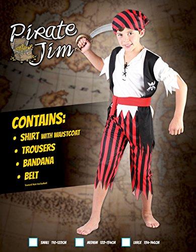 Imagen de disfraz de niño del pirata jim. 3  5 años alternativa
