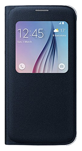 Samsung S View - Funda oficial de tela para Samsung Galaxy S6, color negro- Versión Extranjera