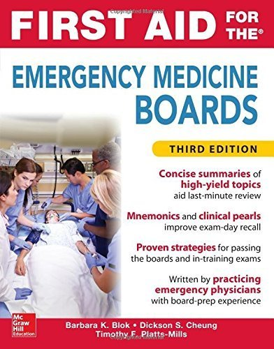 First Aid for the Emergency Medicine Boards 3rd Edition by Barbara Blok (2016-05-17)