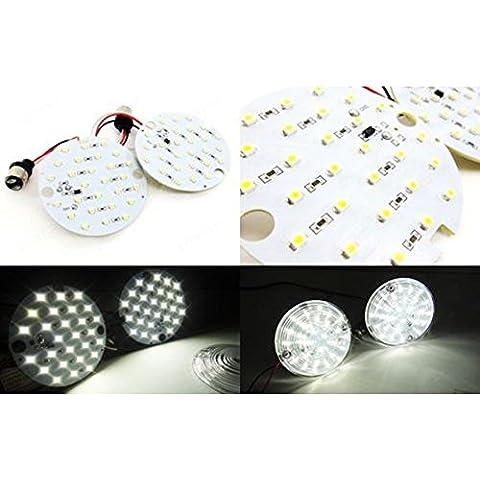 Eaglerich 2 Pezzi (una coppia) di 27 SMD LED 1157 Turno / Daytime Running Temp Pannello di luce della lampada 6000K HID Xenon Colore Bianco segnale. Leggero