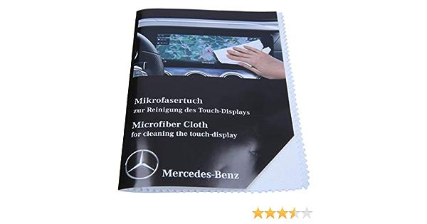 Mercedes Benz Microfasertuch Weiß I Original I Waschbar I Für Die Reinigung Des Touch Display I A0009865500 Auto