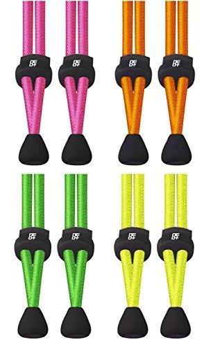 Lot de verrouillage élastique lacets pour Triathlon &–Royaume-Uni Vendeur THE NEON PACK
