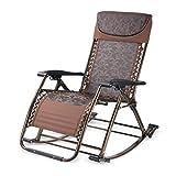 JU FU Poltrone Pieghevoli Multifunzione Sedia a Dondolo Sedia per la Salute Living Room Dual Use Chair Office @ (Colore : Brown)