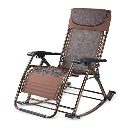 Fauteuils inclinables Multifonctions Fauteuil à Bascule Chaise de santé Salon Bureau à Double Usage Chaise (Couleur : Brown)