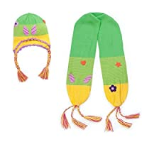 Kidorable Child Knitted Woodland Fairy Design Knitwear Scarf and Hat Set