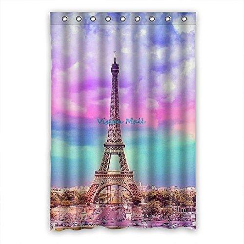 Doubee personalizzato Refresh torre Eiffel tenda doccia in poliestere bagno elegante 121,9x 182,9c