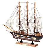Fenteer Retro Schiffsmodell Segelschiff Segelboot Modell Tischdekoration für Haus, Büro, Zimmer usw. - # E