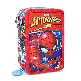 Astuccio Completo 3 zip Spiderman 20×12,5×5,5 cm
