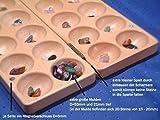 Halbedelsteinspiel aus Buche Incl. Beutel mit 80 Echten Halbedelsteinen / Steinchenspiel Direkt vom Deutschen Hersteller / Made in Germany