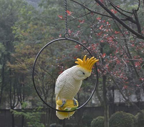 kanischer Garten-Garten-Garten-Gemalter Papagei Im Freienvilla-Garten-Dekorations-Charme ()