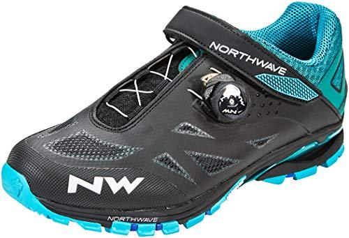 Northwave Spider Plus 2 MTB Trekking Fahrrad Schuhe schwarz/blau 2020: Größe: 44