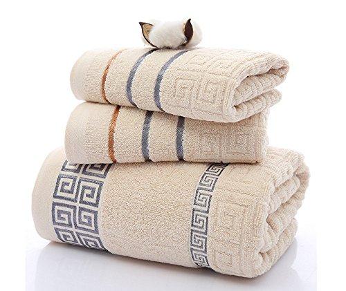 koobea Lot de 1 draps de Bain + 2 Serviettes de Bain de Toilette Coto