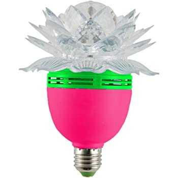 BIG DEEPER 5W LED Crystal Lotus Magic Ball, Rotating Strobe, Multi Color For Disco Party, D.J Party,Club, Other Decorative Purpose