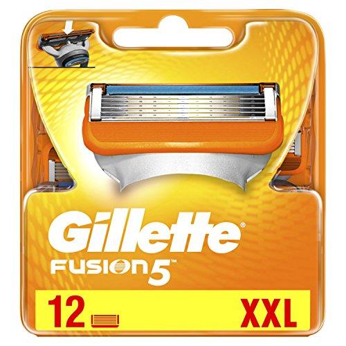 Gillette Fusion Rasierklingen für Männer, 12Stück - Rasierklingen Gillette 12 Mach3