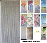 Bambusvorhang Türvorhang, Insektenschutzvorhang, 90cm x 200cm mit Aufhängeleiste, Innen und außen, mehrere Modelle, von MadeInNature® (Modèle 2 Classique Taupe)